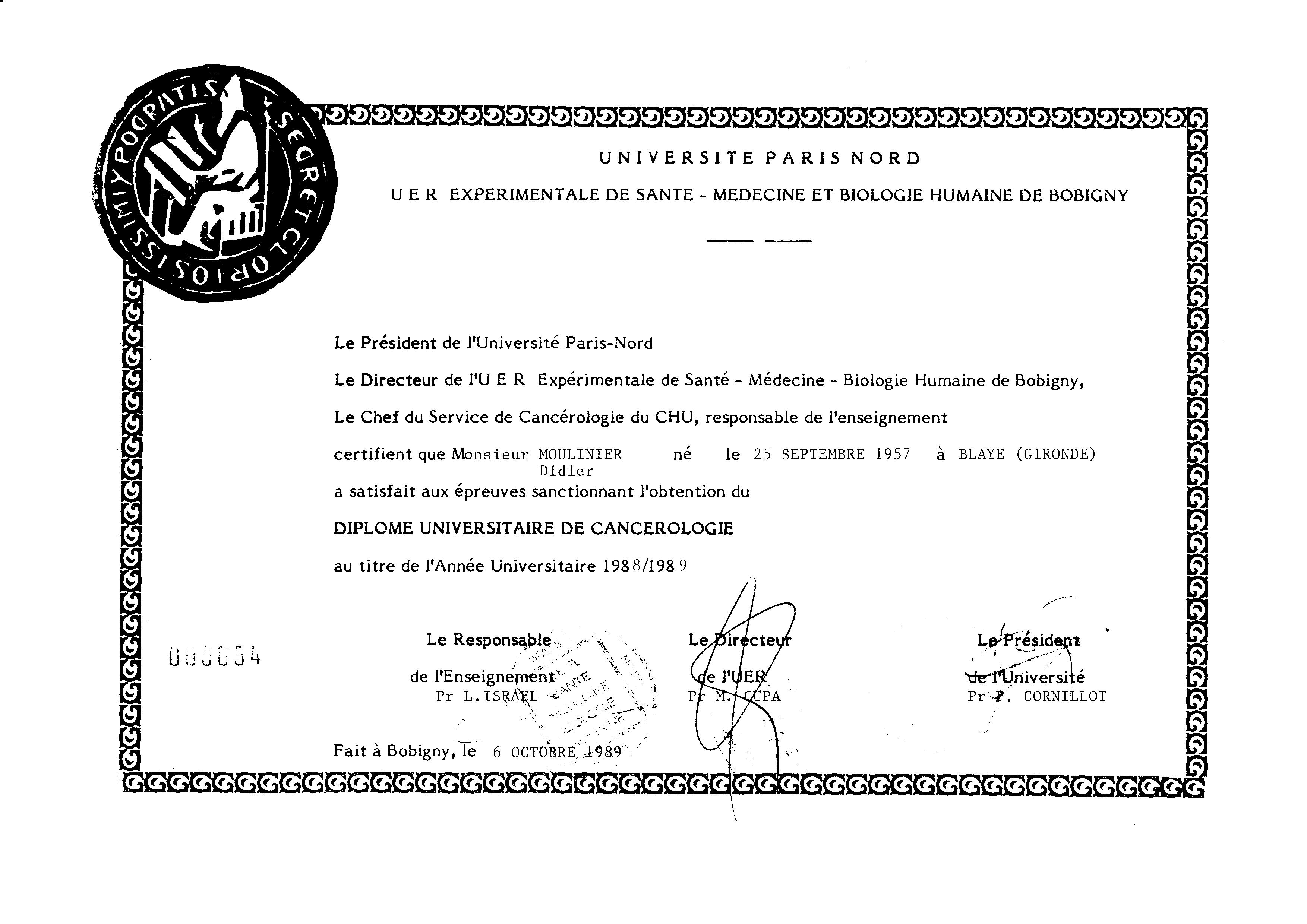 diplome universitaire kinesitherapie paris